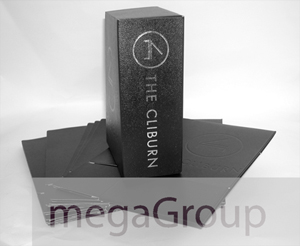 custom leather cd dvd box set packaging silver foil stamping